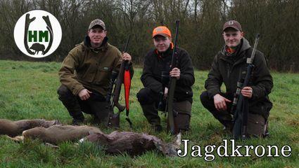 3 Rehe 3 Jäger 2 Stunden | Rehwild-Traumrevier bei Jagdkrone
