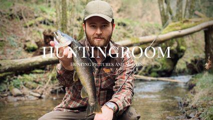 Forellenangeln im Huntingroom Bach